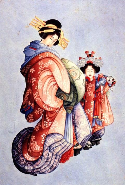 Oiran and Kamuro