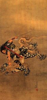 Shoki Riding a Shishi Lion