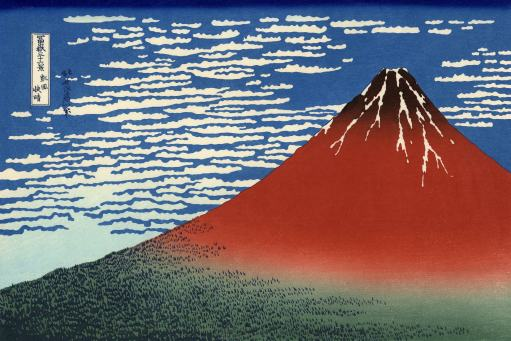 Red Fuji, Southern Wind, Clear Morning