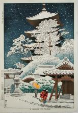 A Snow in Toji Temple