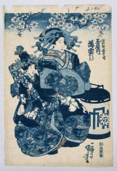 The Courtesans Usugomo Haruka and Yayoi of the Tamaya Teahouse.