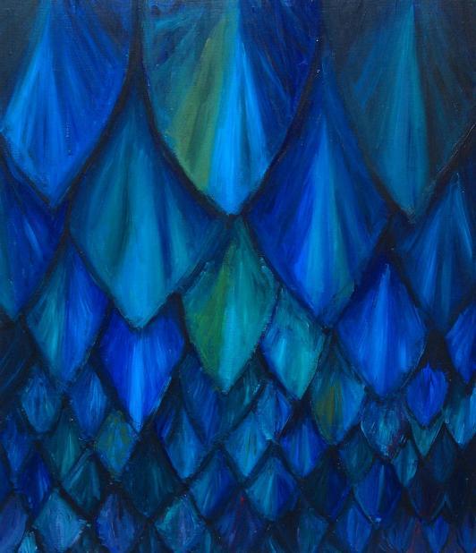 Dark Blue Cave Bat Pattern