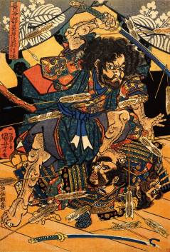 Hasebe Nobutsura During the Taira Attack on the Takakura Palace
