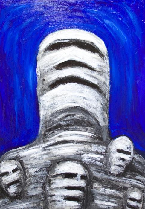 Egyptian Mummies Thinking of the Past