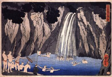 Pilgrims in the Waterfall