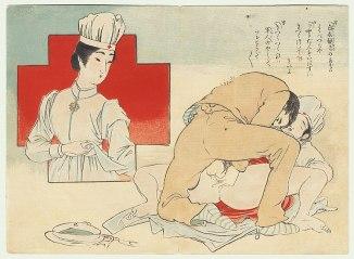 Russo-Japanese War Shunga (Toshikata Mizuno)