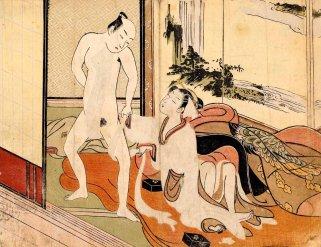 Arranging his Loincloth (Suzuki Harunobu)
