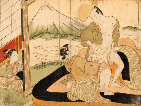 Glorious View of Mount Fuji (Suzuki Harunobu)