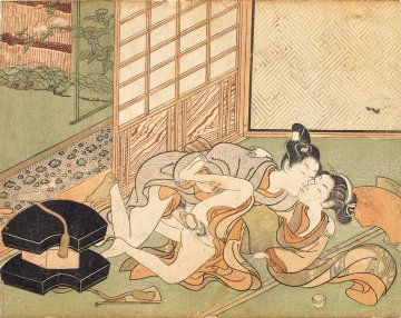 Visit by the Fan Salesman (Suzuki Harunobu)