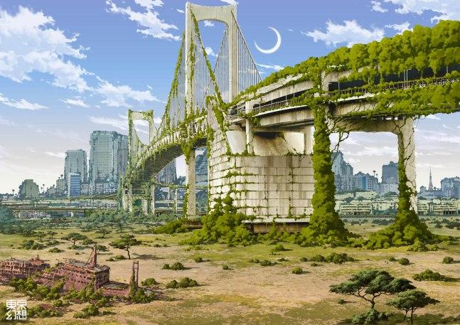 The Rainbow Bridge, from Odaiba