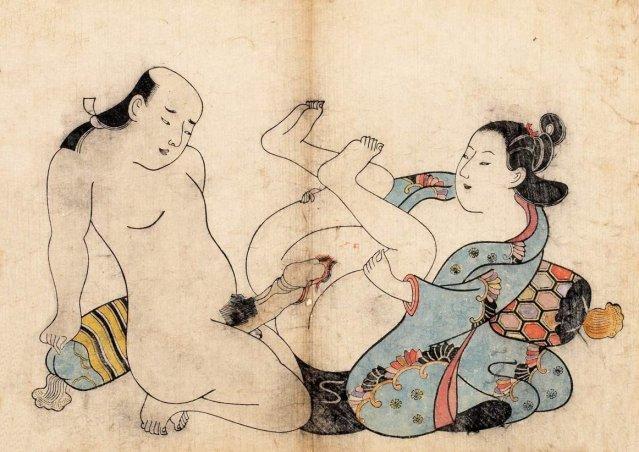 Holding Up Both Legs (Kiyonobu)