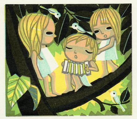Children and Birds Singing in a Tree